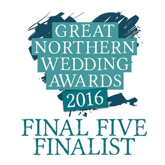 Great Northern Wedding Awards Finalist 2016