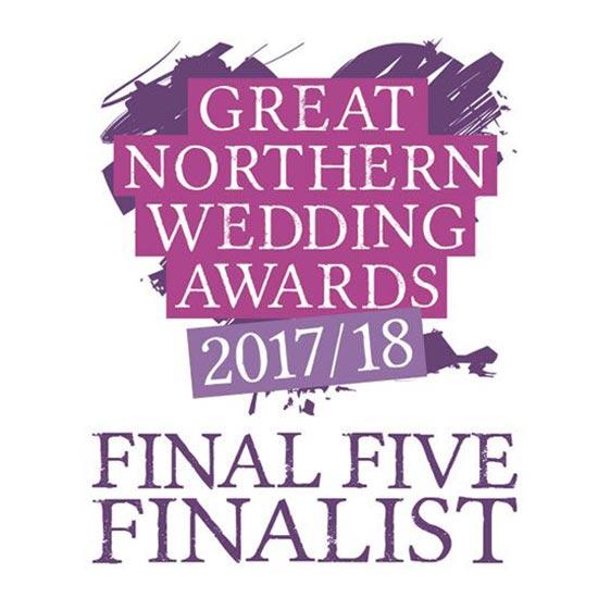 Great Northern Wedding Awards Finalist 2017/18